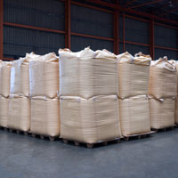 Multiple 1 tonne bags of bulk chemicals