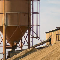 Image showing large hopper and a pile of grain