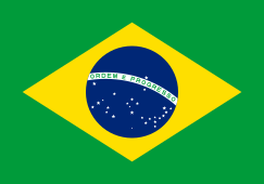 Flag of Brazil - Green with central yellow diamond with a blue circle in centre