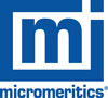 Micromeritics Logo - Blue box with lowerase m in the centre