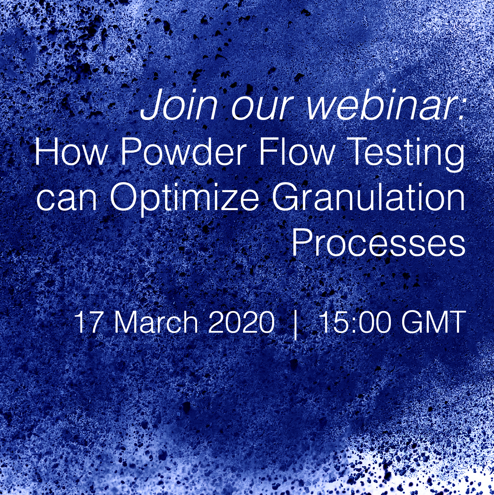 Powder Flow Testing can Optimize Granulation Processes