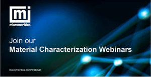Join our Material Characterisation Webinars Graphic - blue background