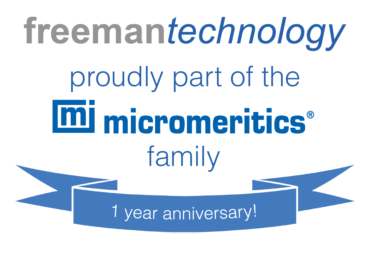 Celebrating 1 year - proudly part of the Micromeritics family
