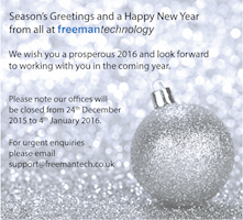 Season's Greeting from Freeman Technology