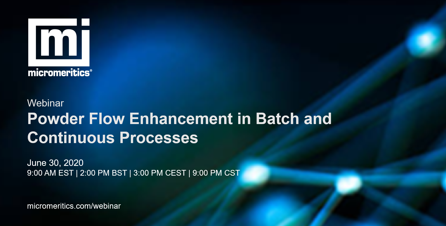 Webinar - powder flow enhancement in batch and continuous processes