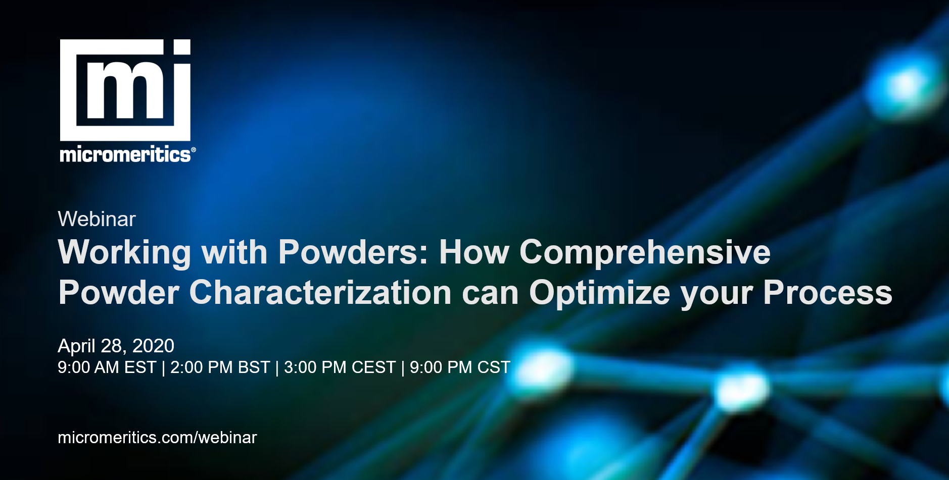 Working with powders webinar now available on demand