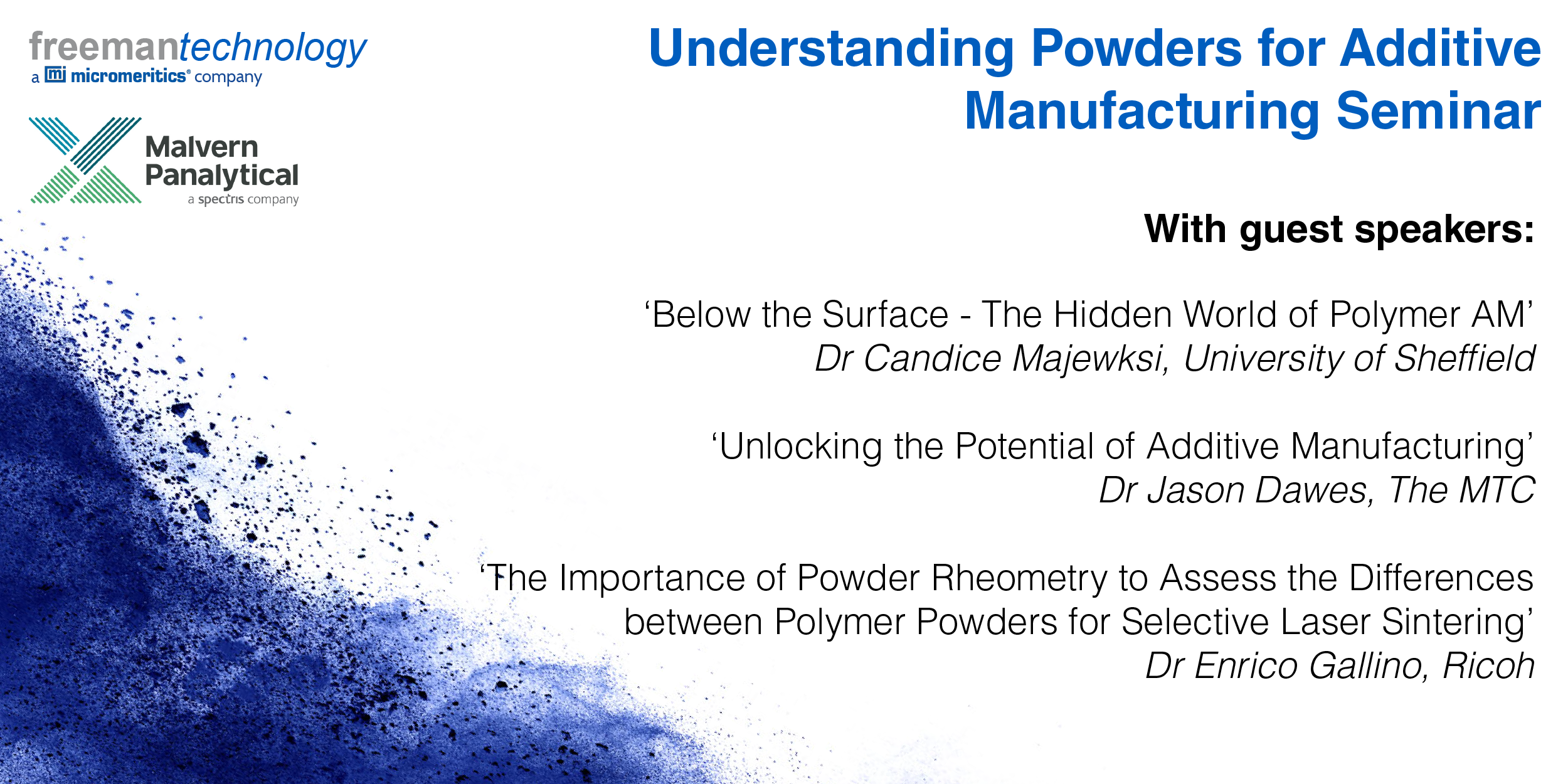 Understanding powders for additive manufacturing seminar (24 September 2019)