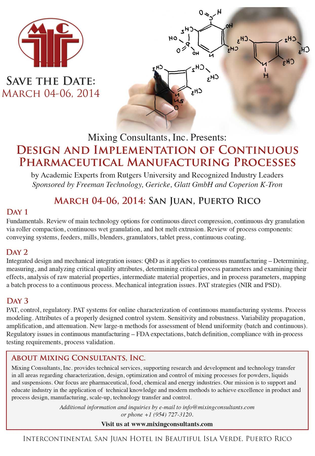 Design and implementation of continuous pharmaceutical manufacturing processes course