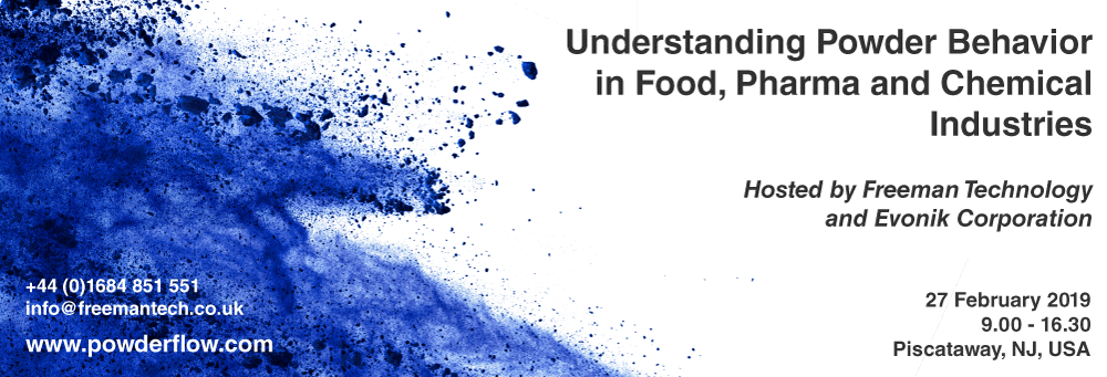 Fully Booked! Understanding powder behavior in food, pharma and chemical industries
