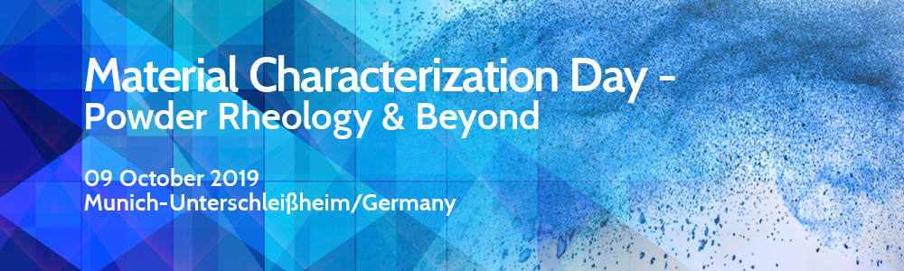 Invitation to material characterization day - powder rheology & beyond (9 October 2019)